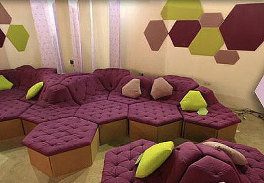 Модульный диван с модулями - сотами