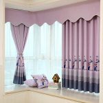 2 PC Short Curtains for Kitchen Curtains for Living Room Bay Window Curtains for Bedroom Kids 1