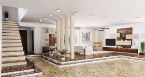 3D-villa-living-room-pillars-partition