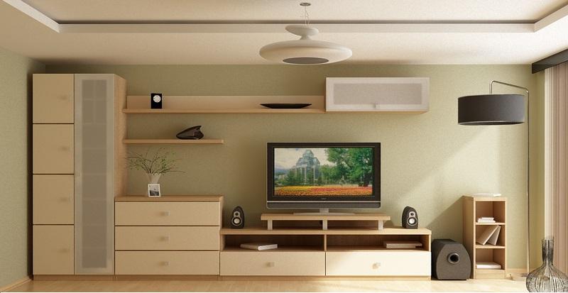 Четкая форма корпусной мебели