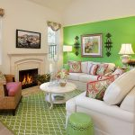 A-bold-splash-of-green-in-the-living-room