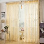 Asian Beige Color Polyester Living Room Sheer UK CHS841 1