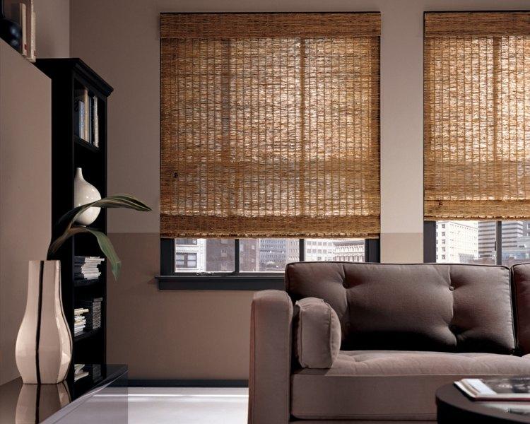 Бамбукоые шторы для гостиной