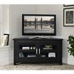 Black Wood 44 inch Corner TV Stand b274d7b6 2a1e 4927 b689 05ee0c2f2bb3 600