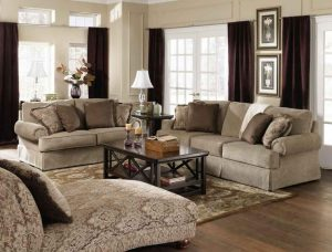 Brown-Curtains-For-Living-Room
