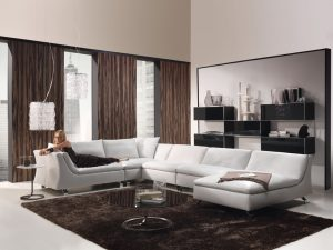 Brown-Living-Room-Decoration-Drape-Curtains