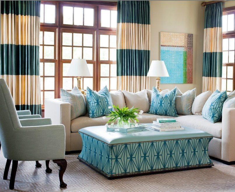 Шторы в современном стиле под интерьер гостиной
