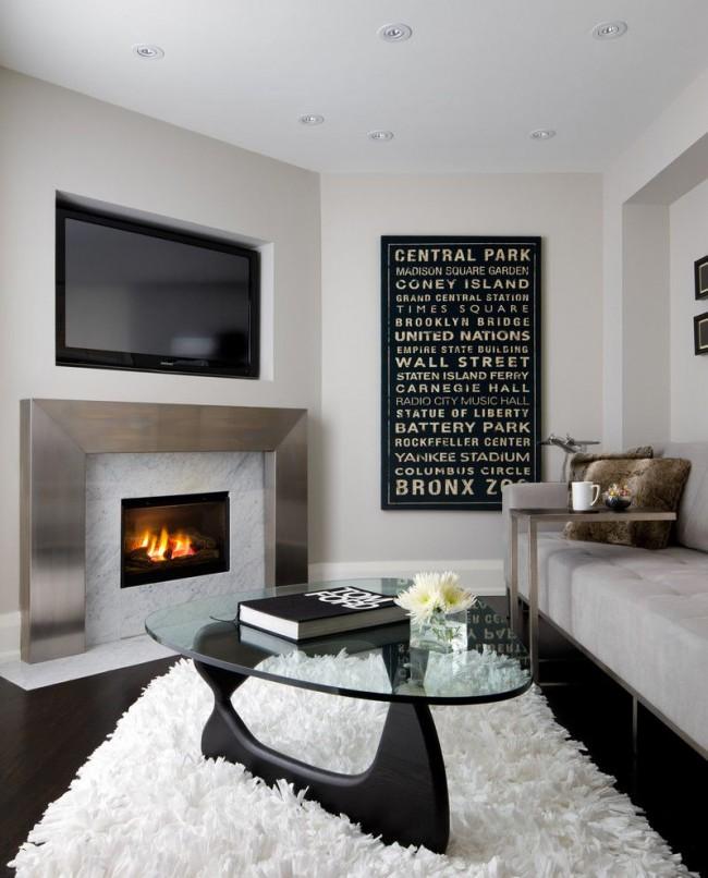 Интерьер гостиной 18 кв м в стиле хай тек