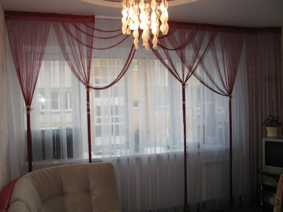 Веревочные шторы для гостиной