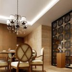 Imposing-Partition-Between-Kitchen-and-Dining-Room-with-Rustic-Pendant-Lamp-and-Wooden-Furniture-as-Interior-Partition-Idea