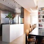 Kitchen and Dining Room with Plywood Divider