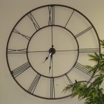 Large-Contemporary-Wall-Clock-Fleur-De-Lis