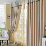 Living Room Curtains Made of Poly and Fiber for Fancy Taste Two Panels C0963