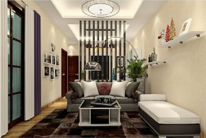 Living-room-partition-and-floor-lamp