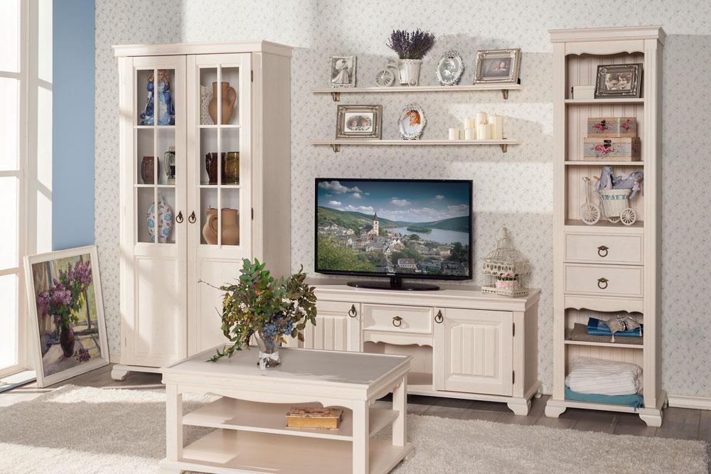 Корпусная мебель в стиле прованс для гостиной