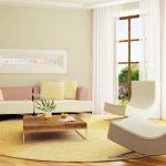 Minimalist style living room with leisure sofa
