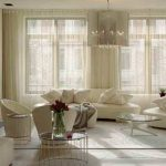 Off White Living Room Sheer Curtains