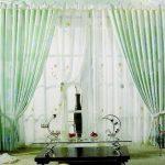 Pastel Themed Sheer Curtain Design for Living Room.