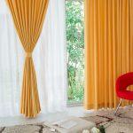 Polyester Orange Modern Style Living Room Curtain CTMAKT150507174543 1