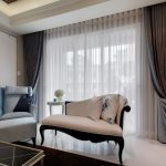 Sheer White Curtains for Modern Living Room