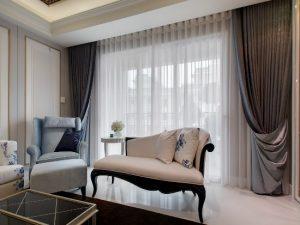 Sheer-White-Curtains-for-Modern-Living-Room