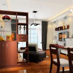 Showcase-as-partition-for-dining-and-living-room