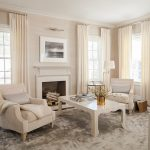 Soothing and elegant living room with a dash of gold