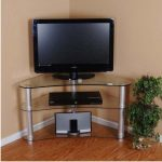 Tall-corner-glass-TV-stand-idea-