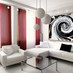 The Modern Living Room Curtains