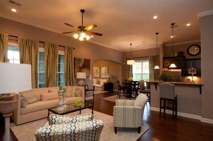 Kitchen living room dining room open floor plan