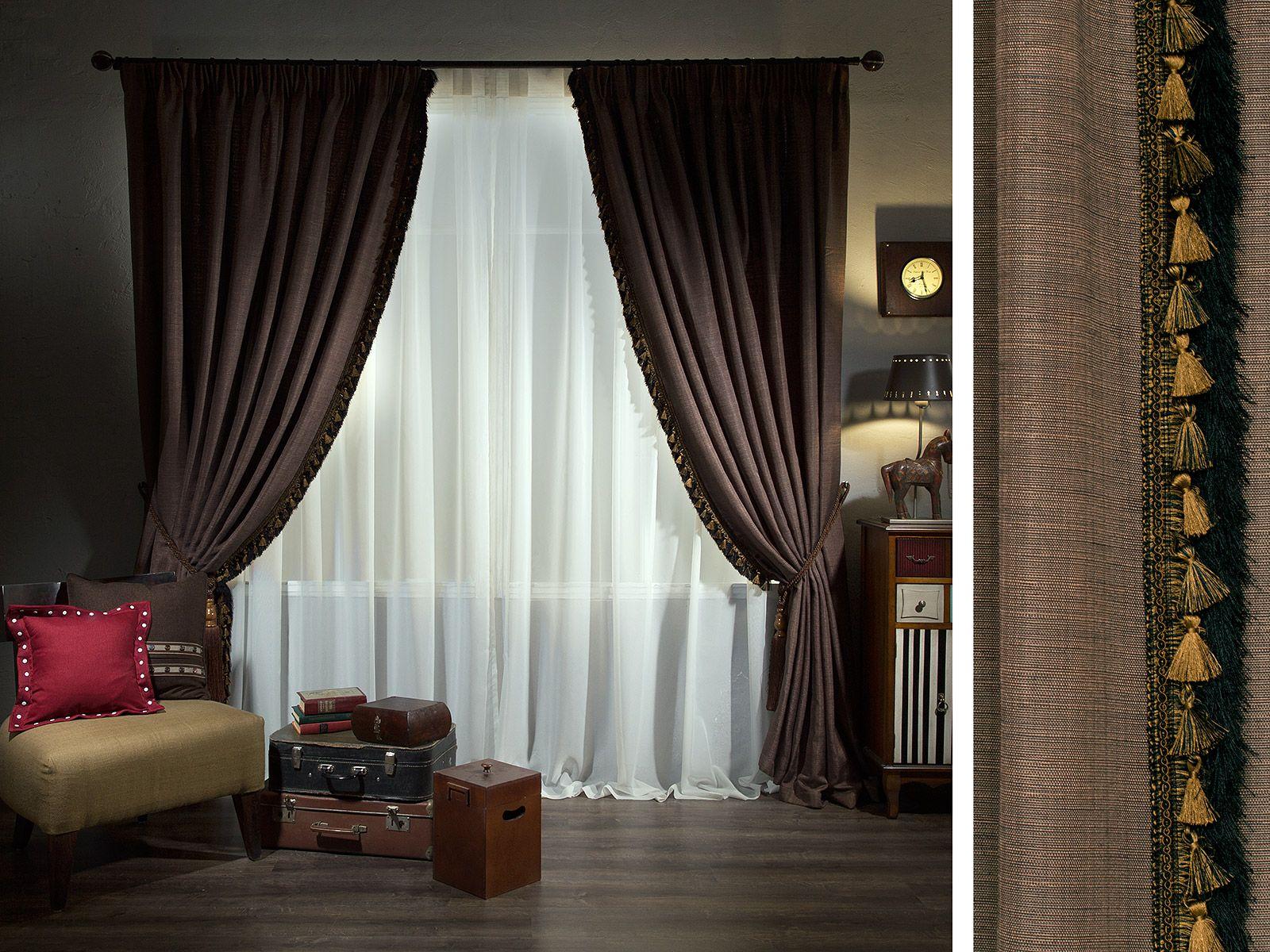 Бархатные шторы в гостиной в стиле арт - деко