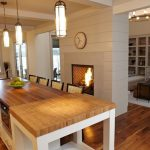 beach inspired decor two sided fireplace
