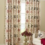 beautiful curtain designs for living room flower pattern living room window curtain with wooden oval coffee table 1