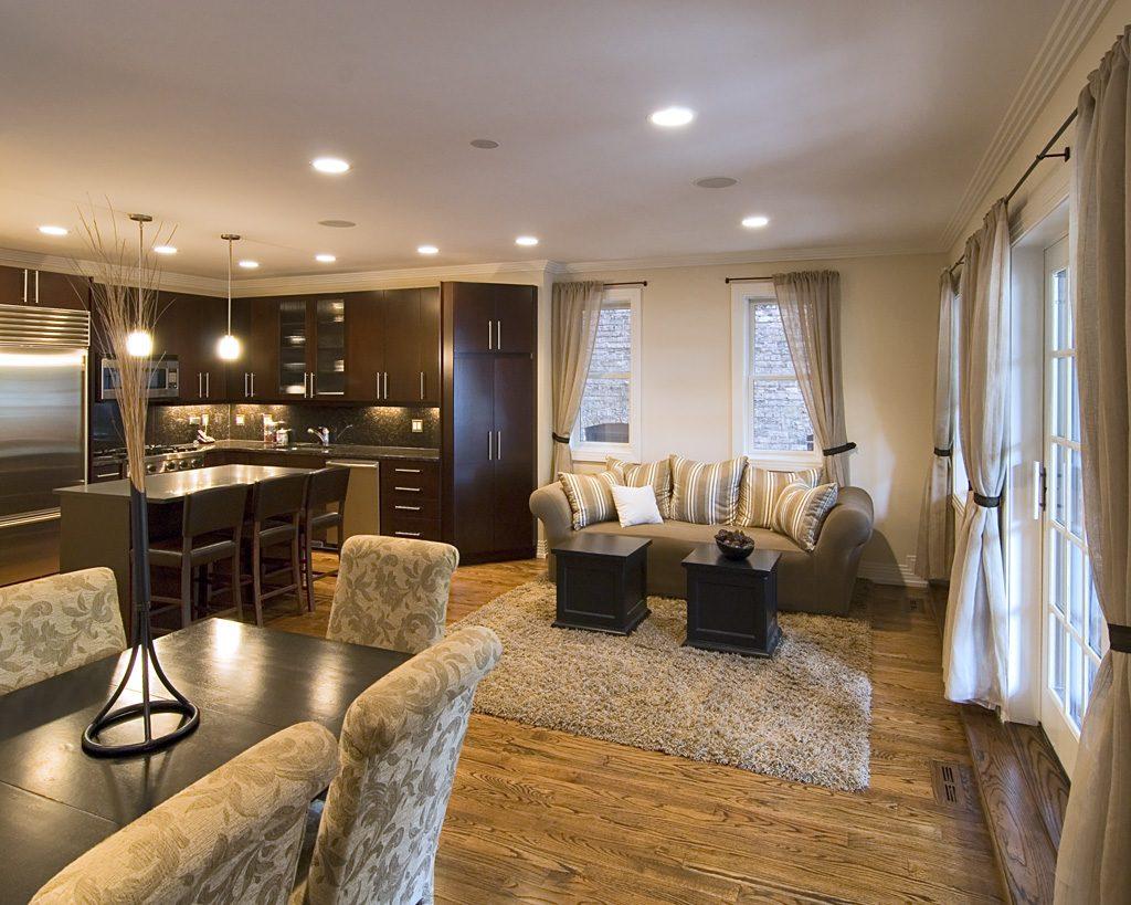 Избавление от перегородки и освобождение пространства для кухни - гостиной