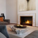 carrara designed fireplace