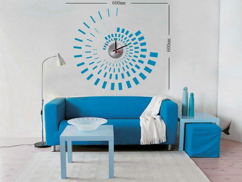 Оригинальный дизайн настенных часов под мебель в гостиной