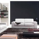 contemporary home living room interior design classy styles with white fabric sofa loveseats plus glassy black low profile coffee table on chocolate shag rug as well as sofas for small living rooms an 618x39