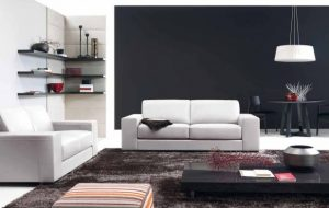 contemporary-home-living-room-interior-design-classy-styles-with-white-fabric-sofa-loveseats-plus-glassy-black-low-profile-coffee-table-on-chocolate-shag-rug-as-well-as-sofas-for-small-living-rooms-an-618x39
