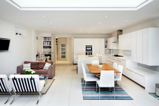 Увеличение кухни- гостиной за счет пространства комнаты