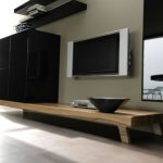 contemporary living room wall unit decoration ideas 3