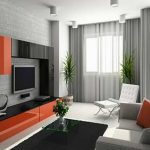 cool-large-wall-decor-for-living-room-with-modern-minimalist-wall-unit-made-of-black-orange-lacquered-wooden-laminate-combined-contemporary-white-couch-sets-designs-as-well-as-living-room-design-tips