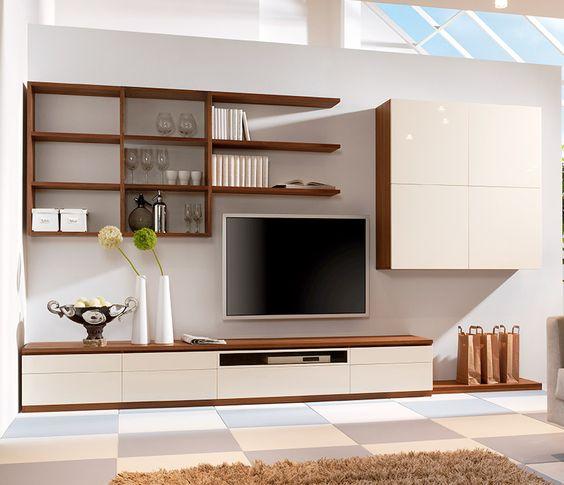 Концепция функциональной модульной стенки для гостиной