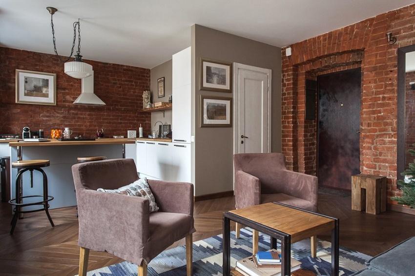 Вентиляция в дизайне кухни - гостиной