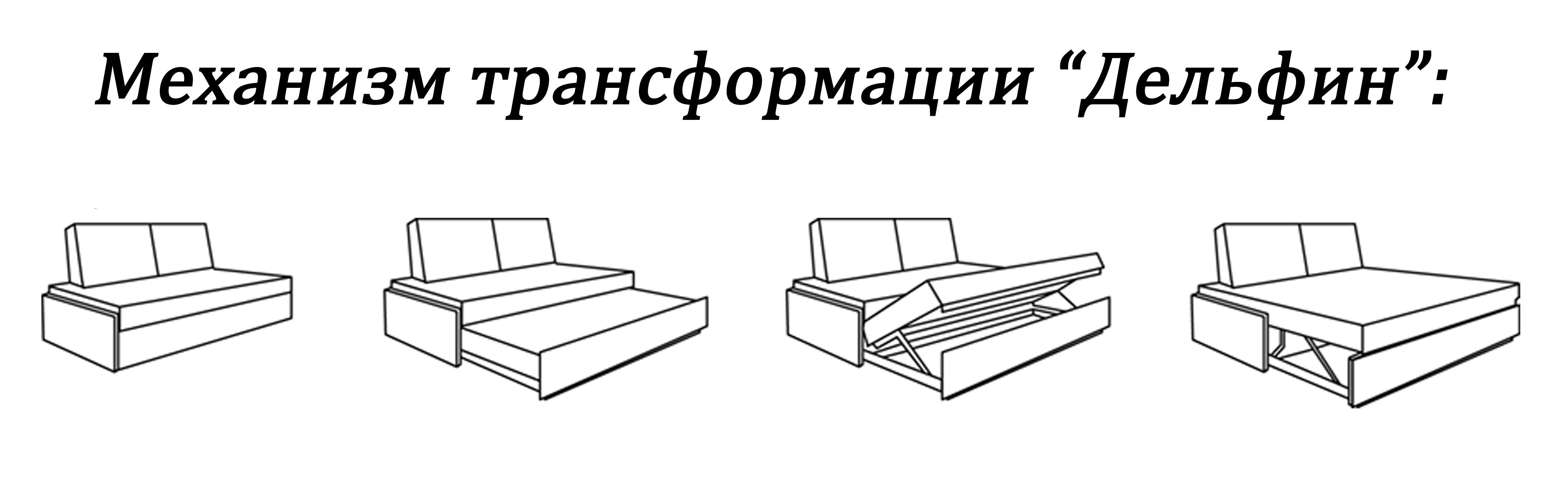 "Схема механизма ""Дельфин"" дивана"