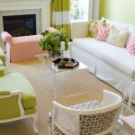 elegant small living room furniture in white and light green contrast 1