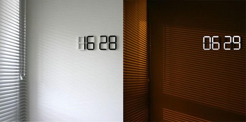 Электронные настенные часы для гостиной