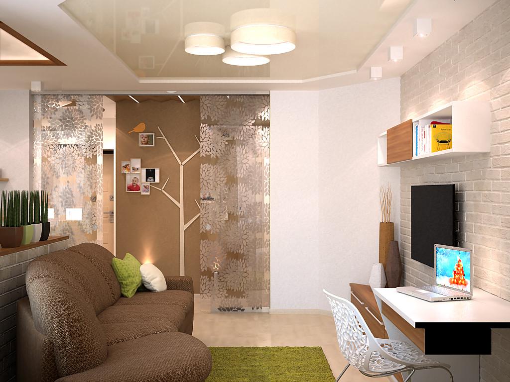 Дизайн этно гостиной