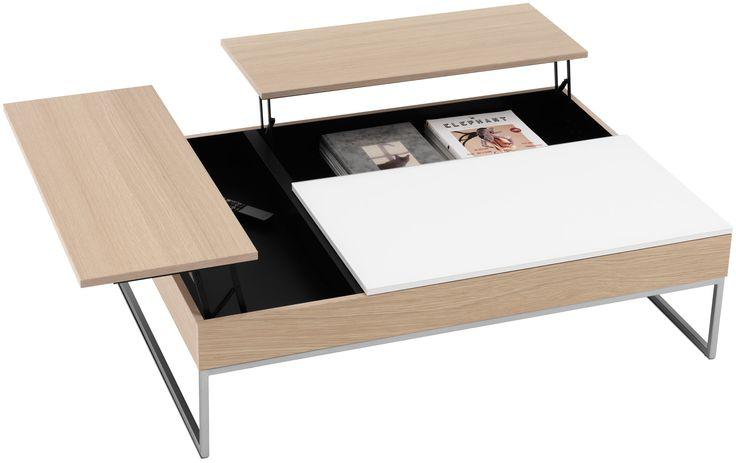 Журнальный столик - трансформер с выдвижной столешницей и местом хранения в основной столешнице