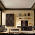 fabulous interior of small living room decorating ideas modern with cream paint wall schemes tucked on clear glass bay windows and exciting two level floating shelves in over entertainment unit tv as