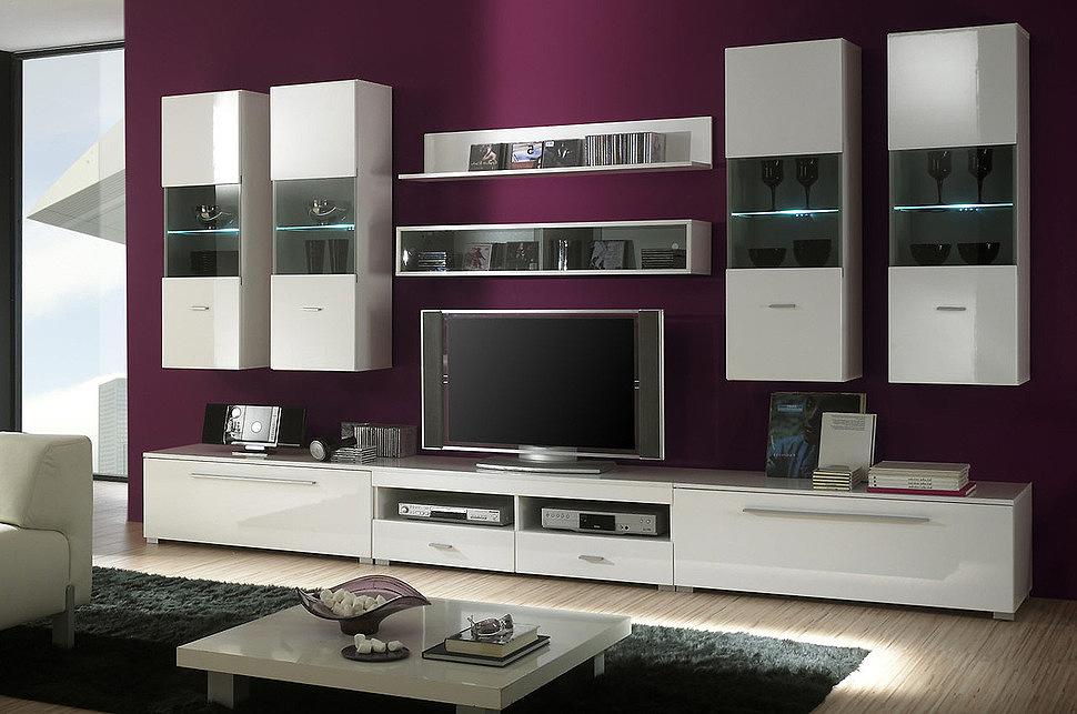 Модульная система в гостиной в стиле модерн